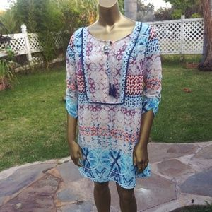 American Rag Boho Tunic Cover up Dress